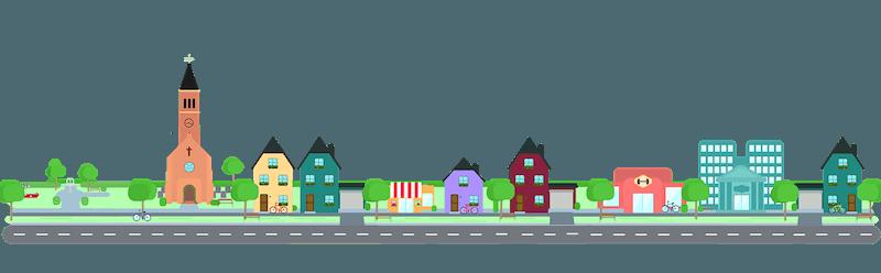 Gas ciudad en una comunidad de propietarios.